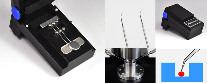 Useful accessory for bending tungsten probe by specific angle